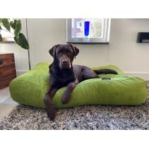 Hondenbed Appelgroen Ribcord superlarge