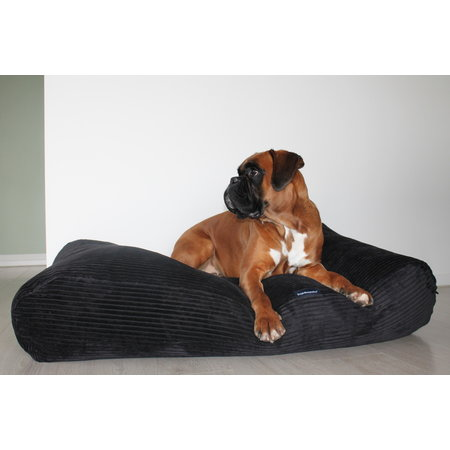 Dog's Companion® Hoes hondenbed Black giant ribcord