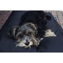 Hondenbed zwart leather look medium