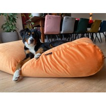 Hondenbed Peach velours