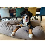 Dog's Companion® Hoes hondenbed taupe (meubelstof)