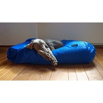 Hondenkussen kobalt blauw vuilafstotende coating large
