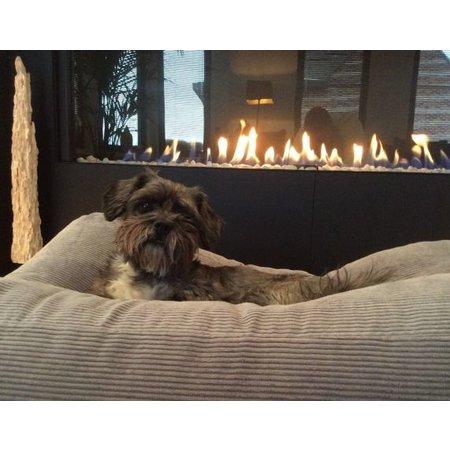 Dog's Companion® Hondenbed muisgrijs ribcord