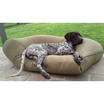 Hondenkussen khaki vuilafstotende coating medium