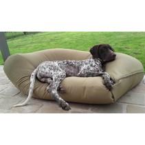 Hondenkussen khaki vuilafstotende coating large
