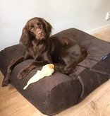 Dog's Companion® Hondenbed chocolade bruin ribcord small