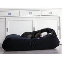 Hondenbed zwart ribcord large
