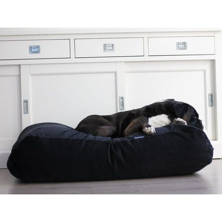 Dog's Companion® Hondenbed zwart ribcord large