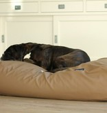 Dog's Companion® Hondenbed taupe leather look