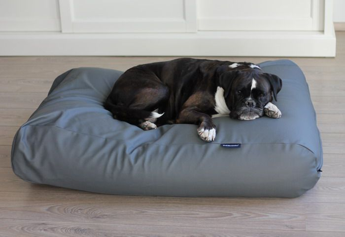 Dog's Companion® Hondenbed muisgrijs leather look small
