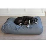 Dog's Companion® Hondenbed muisgrijs leather look superlarge