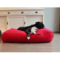 Hondenbed rood ribcord superlarge