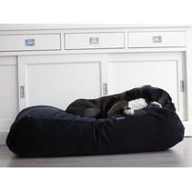 Hondenbed zwart ribcord medium
