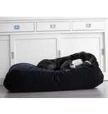 Dog's Companion® Hondenbed zwart ribcord superlarge