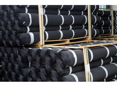 Noppenfolie voor werkvloer 1x20m 150 kN/m2
