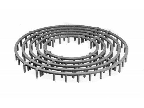 PVC RAS Versterkt vloerringafstandhouder 25 mm