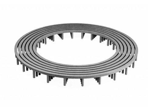 PVC RAS standaard vloerringafstandhouder 35 mm