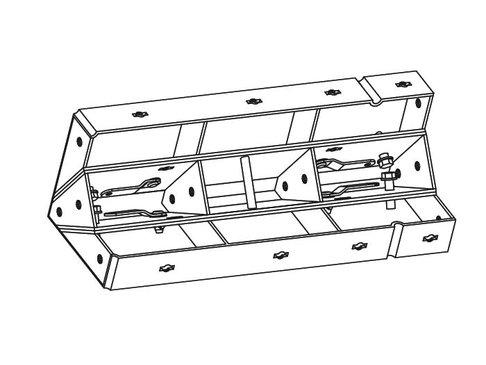 Ontkistingelement binnenhoek 25 x 75 cm verzinkt