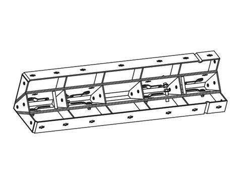Ontkistingelement binnenhoek 9,5 x 9,5 x 125 cm verzinkt