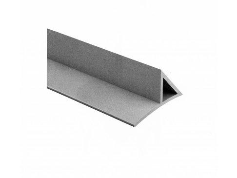 PVC Hoeklijst met strip 15 x 15 (schuine zijde = 21,2 mm)