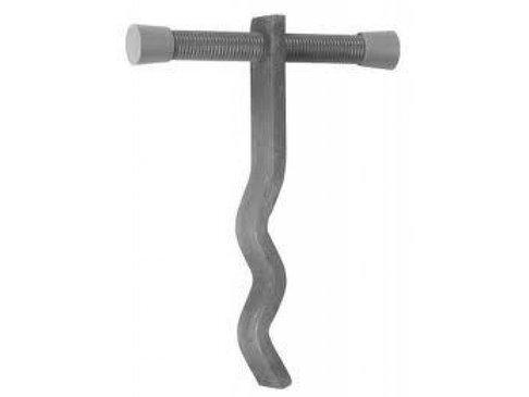 Kimankerset Wanddikte 120mm /Draadeind 115mm  - Gemonteerd met PVC-stop