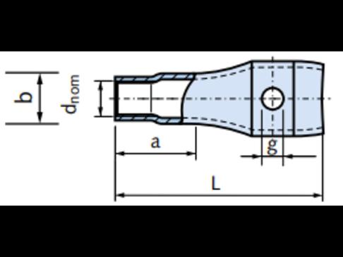 DEMU 995 M20x100 SCHROEFHULS            MET GAT