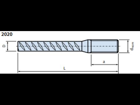 DEMU 2020 M20x520 STEKEIND - 16MM