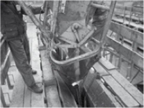 Stortbroek van 1 meter voor kubel - 750 LITER