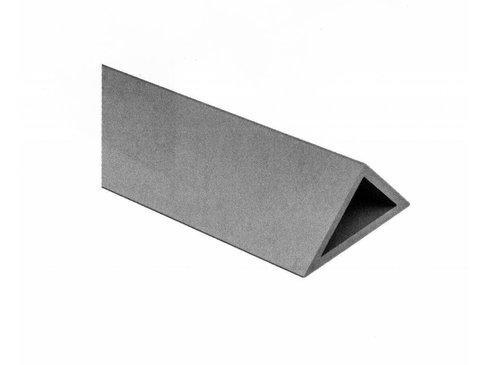 PVC Hoeklijst zonder strip 25 x 25 (schuine zijde = 36,1 mm)