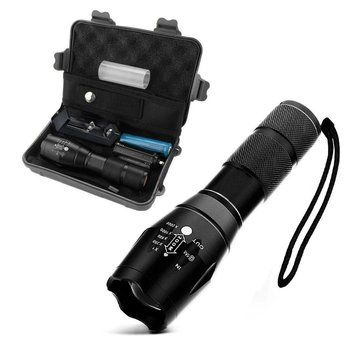 Military flashlight with accessories box
