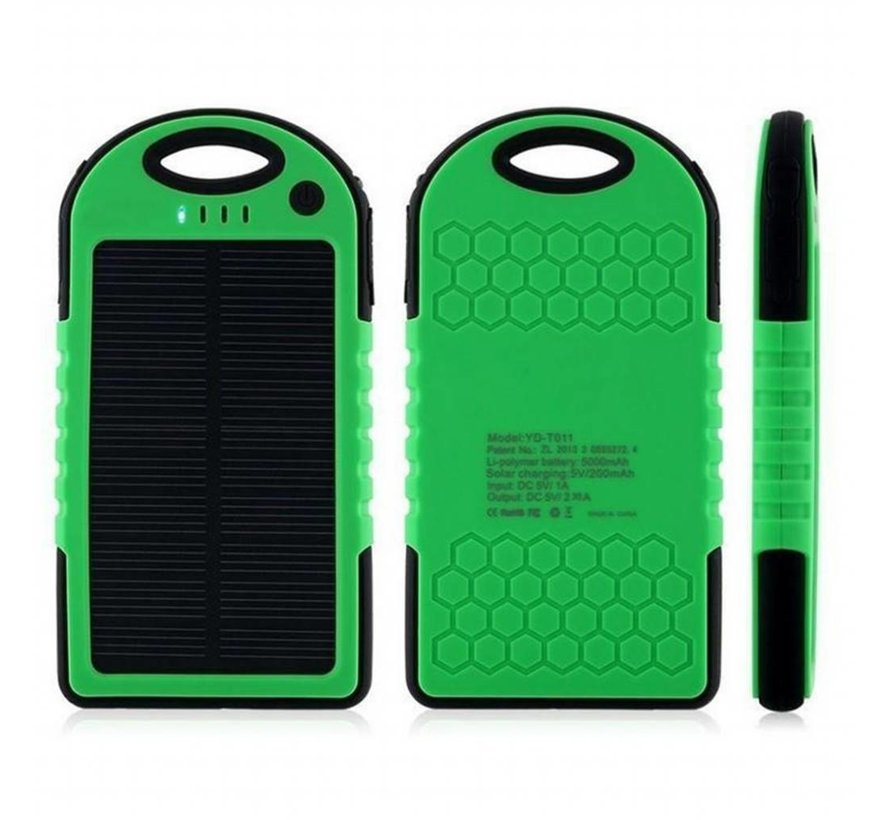 Solar powered power bank - 5000mAh