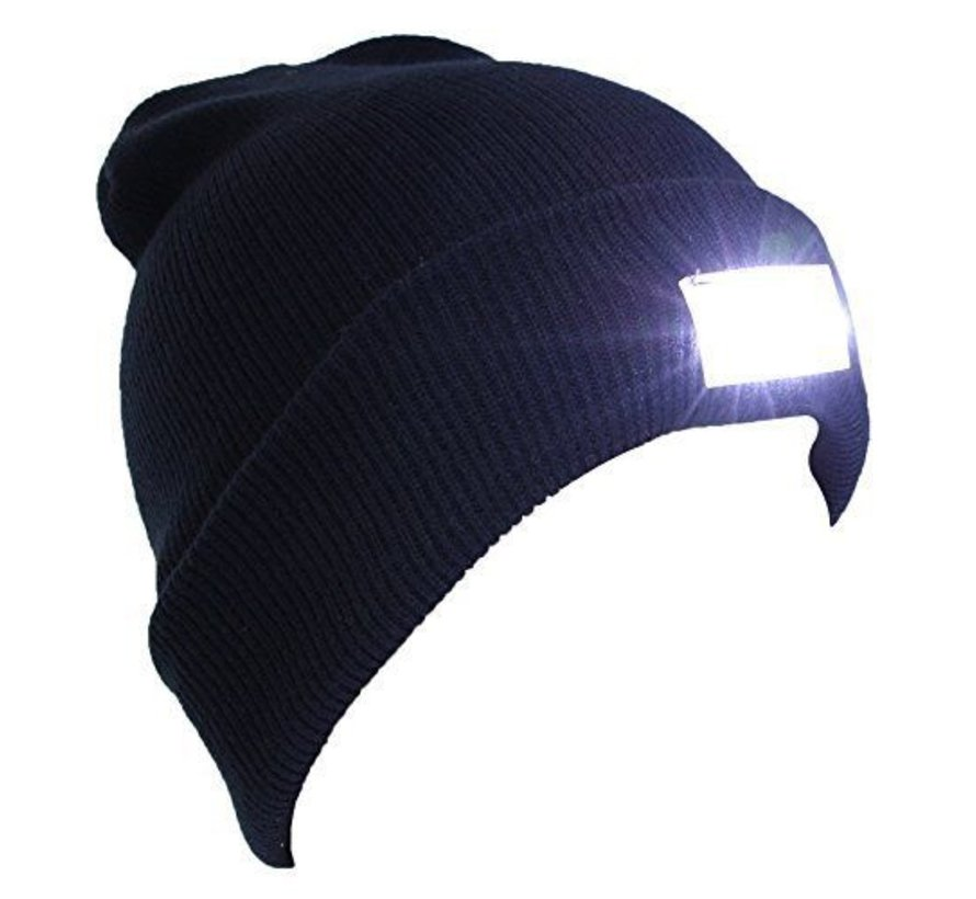 Cap with LED lighting