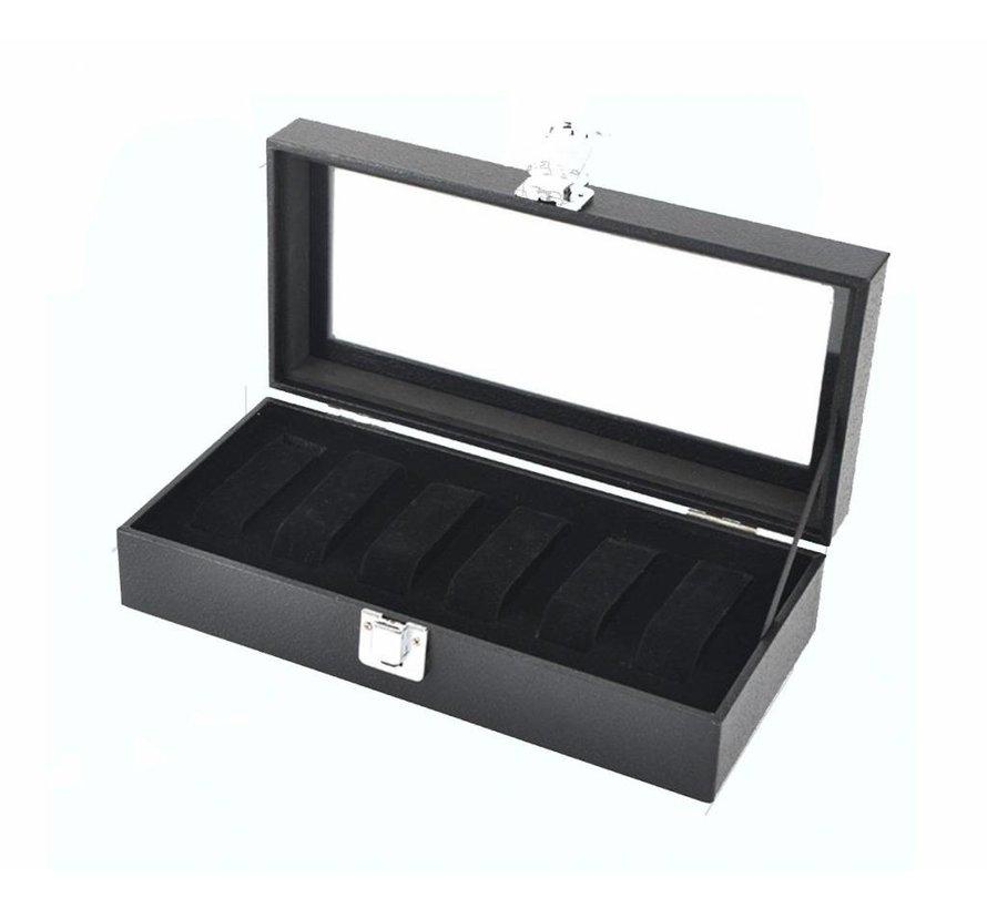 Horlogebox - Sieradendoos zwart