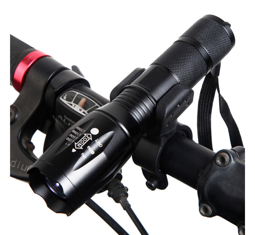 Flashlight holder for the bicycle