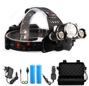 LED Head lamp with accessory box