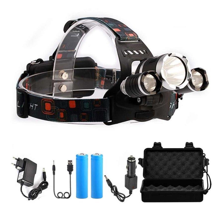 Lampe frontale à LED avec boîte à accessoires
