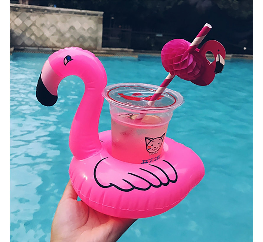 Inflatable cup holder - Flamingo