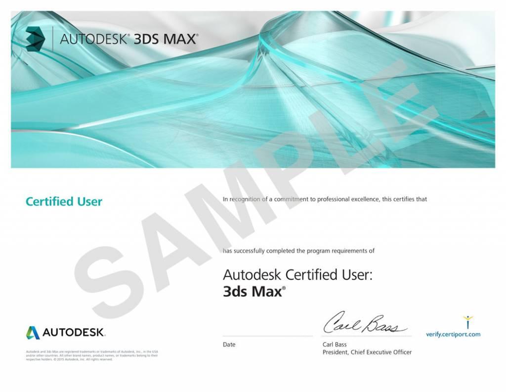 AutoDesk AutoDesk 3ds MAX Examen