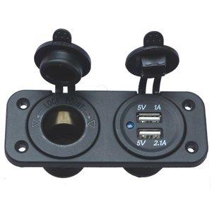 Allpa Inbouwstekker (1x 12V 2x USB)