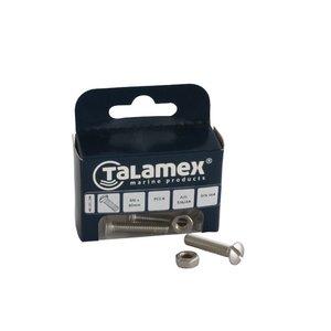 Talamex RVS Bout Lenskop met zaagsnede