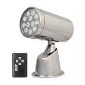 Marinco Wireless LED IP67 SS Spotlight With Remote