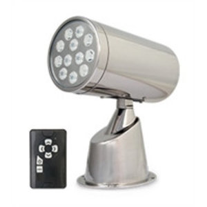 Marinco Wireless LED IP67 SS Spotlight With Remote