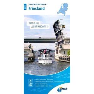 ANWB Waterkaart 1 Friesland 2019