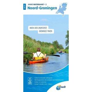 ANWB Waterkaart 2 Noord-Groningen 2019