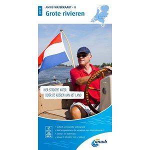 ANWB Waterkaart 8 Grote Rivieren 2021