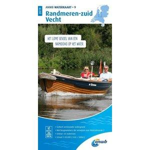 ANWB Waterkaart 9 Randmeren-zuid / Vecht 2021