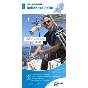 ANWB Waterkaart 12 Hollandse Delta 2019