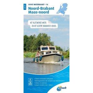 ANWB Waterkaart 16 Noord-Brabant en Maas-noord 2019