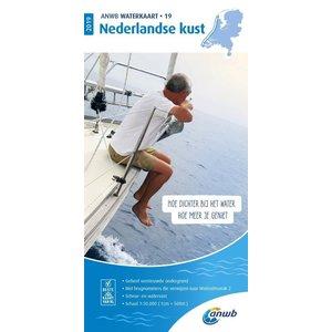 ANWB Waterkaart 19 Nederlandse Kust 2020