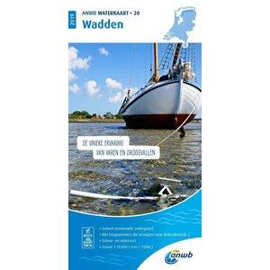 ANWB Waterkaart 20 Wadden 2021
